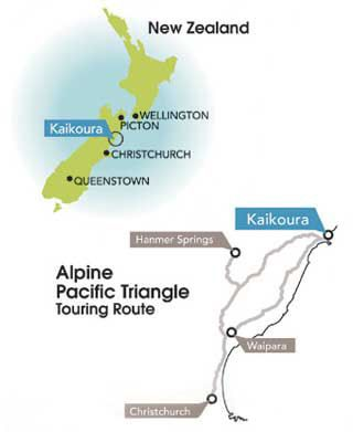 Kaikoura Accommodation South Island NZ Alpine Pacific Touring Route